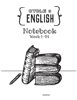 Cycle 3 ENGLISH Grammer Notebook Weeks 1-24 (to use w/Classical Conversations)