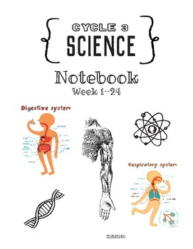 Cycle 3 SCIENCE Notebook (to use with Classical Conversations) Week 1-24