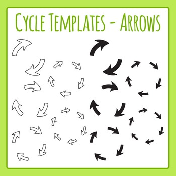 Cycle Templates - Arrows - Clip Art Set for Commercial Use