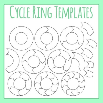 Cycle Templates - Rings Clip Art Set for Commercial Use