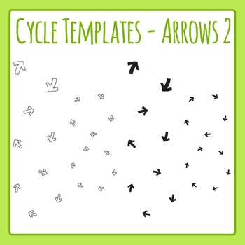 Cycle Templates - Small Arrows - Clip Art Set for Commercial Use