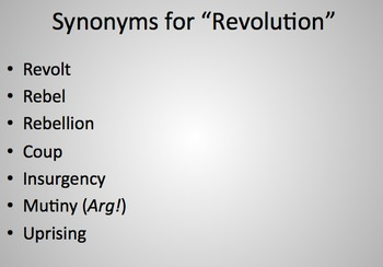 Cycle of Revolution powerpoint
