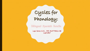 Cycles For Phonology Approach: Bilingual Spanish
