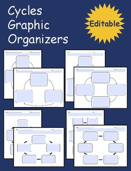 Cycles Graphic Organizers - Editable