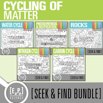 Cycles Seek & Find Doodle Pages Bundle