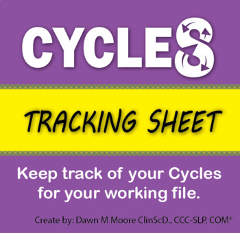Cycles Tracking Sheet