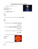 Cycles and Patterns in the Solar System Special Education Modified Assessment