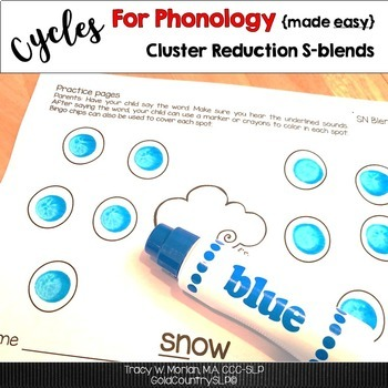 Cycles for Phonology CR Cluster Reduction S-blends & BONUS #cyclesforphonology
