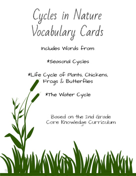 Cycles in Nature Vocabulary Cards