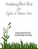 Cycles in Nature Word Work