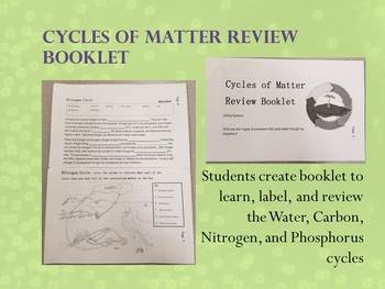 Cycles of Matter Review Booklet