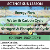 Cycles of Matter Science Sub Plan - Energy Flow (Homework