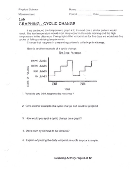 Cyclical Change Worksheet Lab Questions