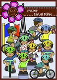 Cycling - Tour de France Digital Clipart (color and black&white)