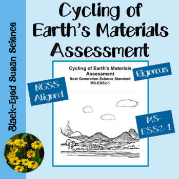 Cycling of Earth's Materials Assessment NGSS MS-ESS2-1