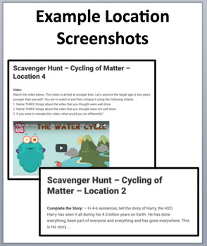 Cycling of Matter in Ecosystems – Device-Based Scavenger Hunt Activity