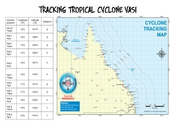 Cyclone Yasi Tracking Map