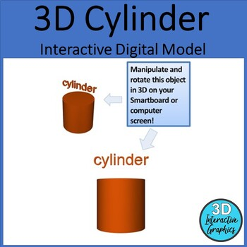 Cylinder - 3D Shape for Whiteboards and Smartboards