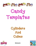 Cylinder & Cube Candy Templates: Hands-on 3D Shapes, Commo
