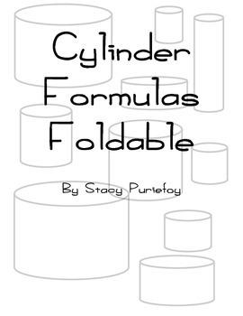 Cylinder Formulas Foldable