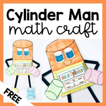 Cylinder Man Art Activity (3D Shapes) FREEBIE