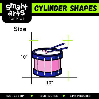 Cylinder Shapes Clip Art