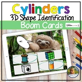Cylinders 3D Shapes Digital Game Boom Cards Distance Learning