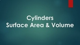 Cylinders - Lateral Surface Area, Total Surface Area, & Volume
