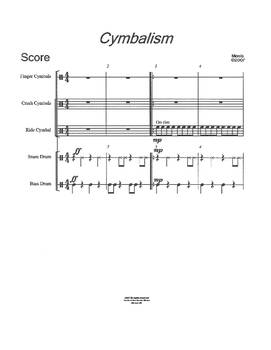 Cymbalism for Percussion Ensemble