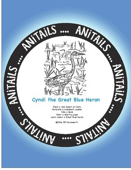 ANiTAiLS: Cyndi the Great Blue Heron Story, Crossword, Coloring page and more