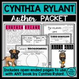Cynthia Rylant:  An Author Study Packet