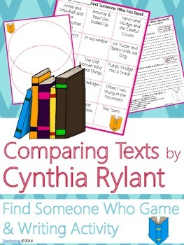 Cynthia Rylant Author Study {NO PREP Writing Activities & Game}
