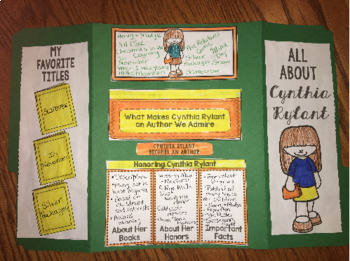 Cynthia Rylant Author Study Lapbook