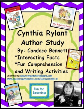 Cynthia Rylant Author Study with Literature Connection Activities