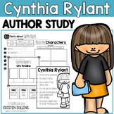"""Cynthia Rylant """"Click-and-Print"""" Author Study and Book Study Bundle"""