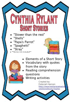 Cynthia Rylant Short Stories Package