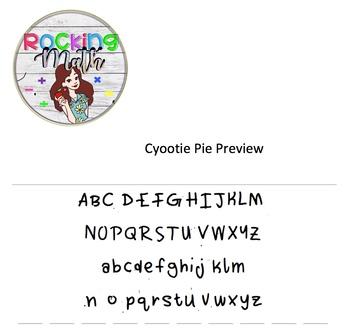 Cyootie Pie Font