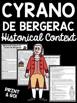 Cyrano de Bergerac Historical Context Background Reading Comprehension Worksheet