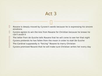 Cyrano de Bergerac Powerpoint Act 3
