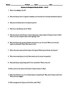 Cyrano de Bergerac Study Guide Packet