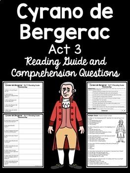 Cyrano de Bergerac Unit Plan, Comprehension Worksheets, Reading Guide