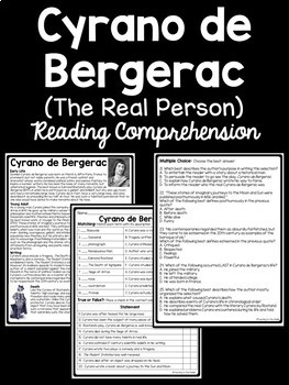 Cyrano de Bergerac Unit Plan Bundle; Reading Comprehension