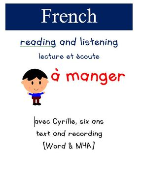 Cyrille Reading and Listening - A  Manger