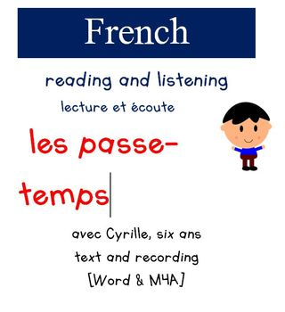 Cyrille Reading and Listening - Les Passe-temps