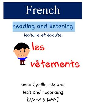 Cyrille Reading and Listening - Les vetements
