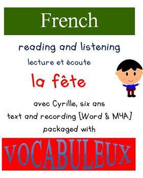 Cyrille et Vocabuleux  Set - La fête