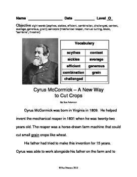 Cyrus McCormick - A New Way to Cut Crops