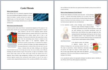 Cystic Fibrosis - Science Reading Article