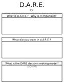 D.A.R.E. Writing Graphic Organizer