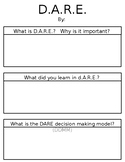 D.A.R.E. Writing Graphic Organizer